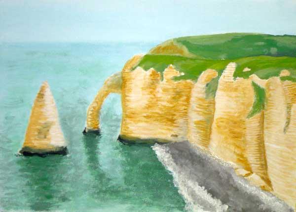 Les falaises d'Etretat